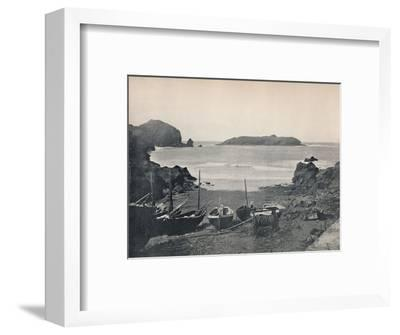 'Mullion Cove - Showing Mullion Island', 1895-Unknown-Framed Photographic Print