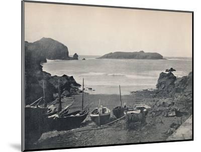 'Mullion Cove - Showing Mullion Island', 1895-Unknown-Mounted Photographic Print