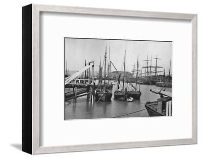 'Newhaven - In the Harbour', 1895-Unknown-Framed Photographic Print