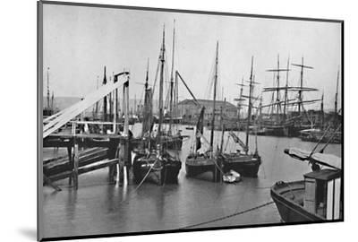 'Newhaven - In the Harbour', 1895-Unknown-Mounted Photographic Print