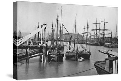 'Newhaven - In the Harbour', 1895-Unknown-Stretched Canvas Print