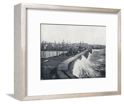 'Arbroath - From the Harbour', 1895-Unknown-Framed Photographic Print