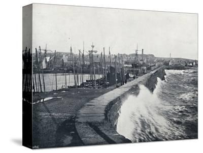 'Arbroath - From the Harbour', 1895-Unknown-Stretched Canvas Print