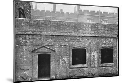 'Charterhouse. Exterior of Cloister Alley', 1925-Unknown-Mounted Photographic Print
