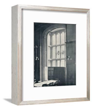 'Charterhouse. Interior of Bay in the Dining Hall', 1925-Unknown-Framed Photographic Print