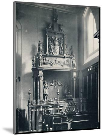 'Charterhouse. Thomas Sutton's Monument in the Chapel', 1925-Unknown-Mounted Photographic Print