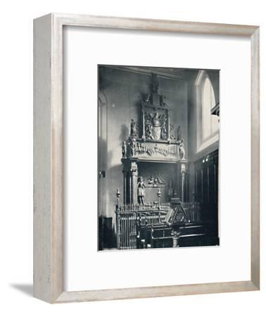 'Charterhouse. Thomas Sutton's Monument in the Chapel', 1925-Unknown-Framed Photographic Print