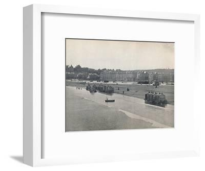 'Paignton - The Sands, from the Pier', 1895-Unknown-Framed Photographic Print