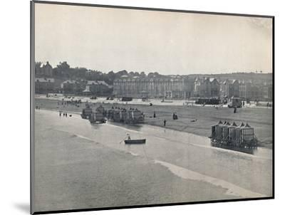 'Paignton - The Sands, from the Pier', 1895-Unknown-Mounted Photographic Print