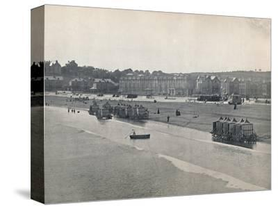 'Paignton - The Sands, from the Pier', 1895-Unknown-Stretched Canvas Print