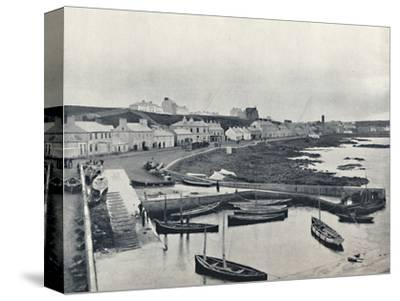 'Portstewart - The Harbour and Town', 1895-Unknown-Stretched Canvas Print
