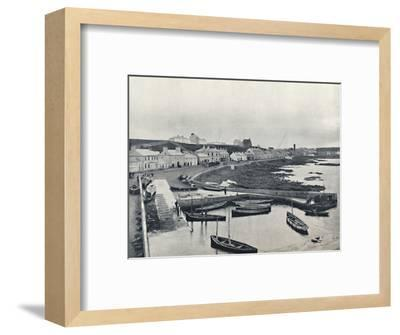 'Portstewart - The Harbour and Town', 1895-Unknown-Framed Photographic Print