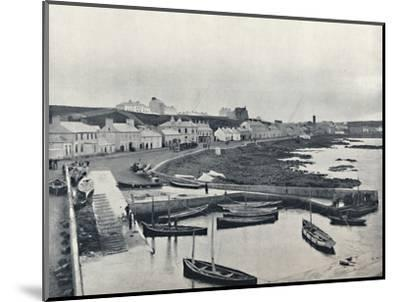 'Portstewart - The Harbour and Town', 1895-Unknown-Mounted Photographic Print