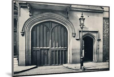 'Charterhouse. Exterior of Entrance Gateway', 1925-Unknown-Mounted Photographic Print