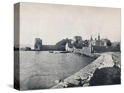 'Branksea Island - General View of the Castle', 1895-Unknown-Stretched Canvas Print