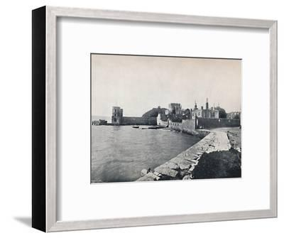 'Branksea Island - General View of the Castle', 1895-Unknown-Framed Photographic Print