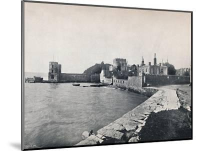 'Branksea Island - General View of the Castle', 1895-Unknown-Mounted Photographic Print