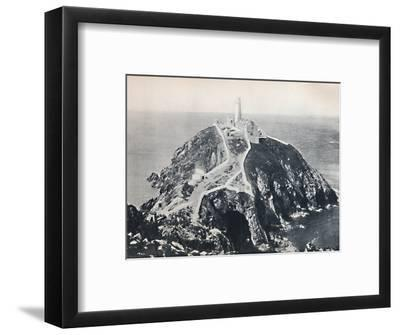 'Holyhead - The South Stack, Lighthouse', 1895-Unknown-Framed Photographic Print