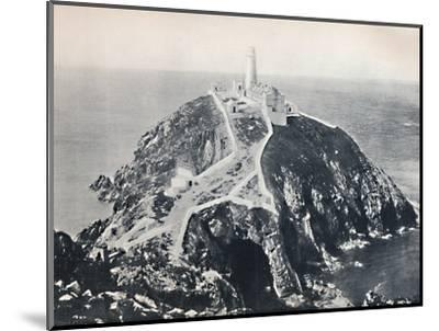 'Holyhead - The South Stack, Lighthouse', 1895-Unknown-Mounted Photographic Print
