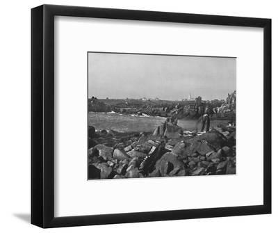 'Scilly Islands - the Cove and Lighthouse, St. Agnes', 1895-Unknown-Framed Photographic Print