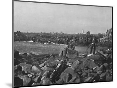 'Scilly Islands - the Cove and Lighthouse, St. Agnes', 1895-Unknown-Mounted Photographic Print