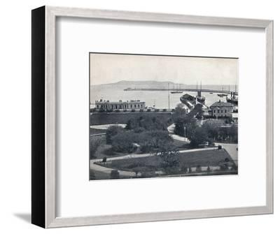 'Kingstown - General View of the Harbour', 1895-Unknown-Framed Photographic Print