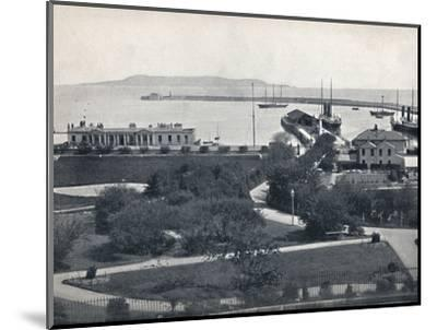 'Kingstown - General View of the Harbour', 1895-Unknown-Mounted Photographic Print