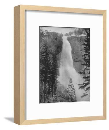 'Nevada Fall in the Yosemite Valley', 19th century-Unknown-Framed Photographic Print