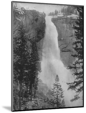 'Nevada Fall in the Yosemite Valley', 19th century-Unknown-Mounted Photographic Print