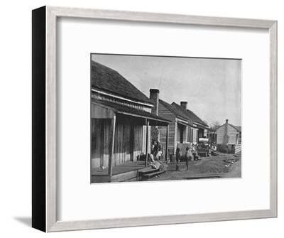 Quarters at Thomasville in Georgia', 19th century-Unknown-Framed Photographic Print