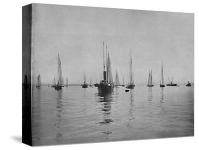 'New York Bay', 19th century-Unknown-Stretched Canvas Print
