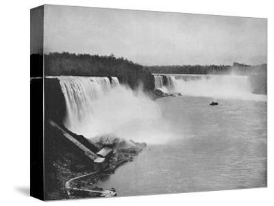 'The General Outline of Niagara', 19th century-Unknown-Stretched Canvas Print