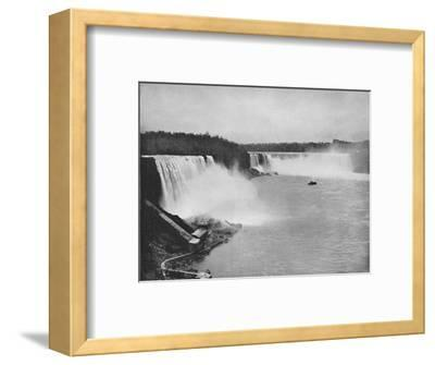 'The General Outline of Niagara', 19th century-Unknown-Framed Photographic Print