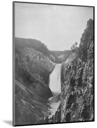 'The Great Falls of the Yellowstone', 19th century-Unknown-Mounted Photographic Print