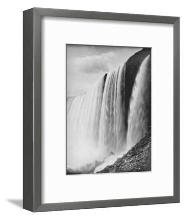 'The Horseshoe Fall', 19th century-Unknown-Framed Photographic Print