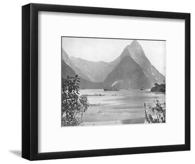 'Mitre Peak', 19th century-Unknown-Framed Photographic Print