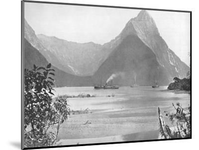 'Mitre Peak', 19th century-Unknown-Mounted Photographic Print