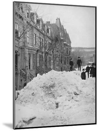 'A Montreal Street in Winter', 19th century-Unknown-Mounted Photographic Print