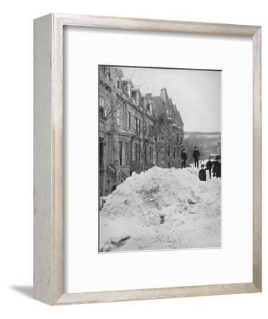 'A Montreal Street in Winter', 19th century-Unknown-Framed Photographic Print