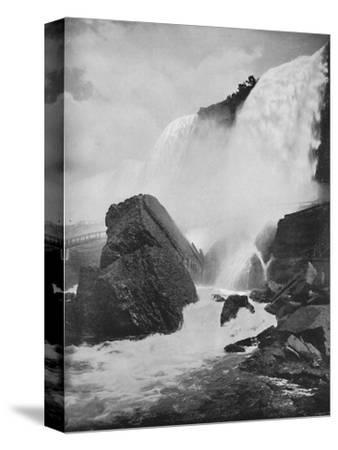 'The Rocks Beneath the American Fall', 19th century-Unknown-Stretched Canvas Print