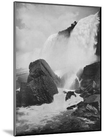 'The Rocks Beneath the American Fall', 19th century-Unknown-Mounted Photographic Print