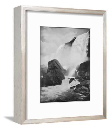 'The Rocks Beneath the American Fall', 19th century-Unknown-Framed Photographic Print