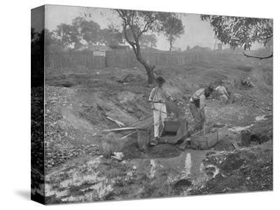 'Gold-Digging in Australia', 19th century-Unknown-Stretched Canvas Print
