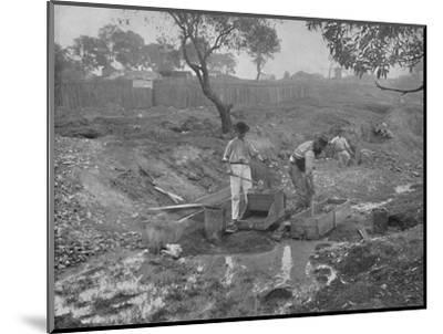 'Gold-Digging in Australia', 19th century-Unknown-Mounted Photographic Print