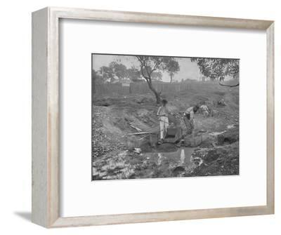 'Gold-Digging in Australia', 19th century-Unknown-Framed Photographic Print