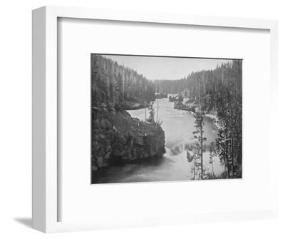 'The Rapids of the Yellowstone', 19th century-Unknown-Framed Photographic Print