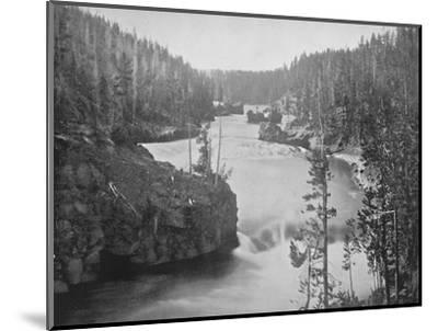 'The Rapids of the Yellowstone', 19th century-Unknown-Mounted Photographic Print
