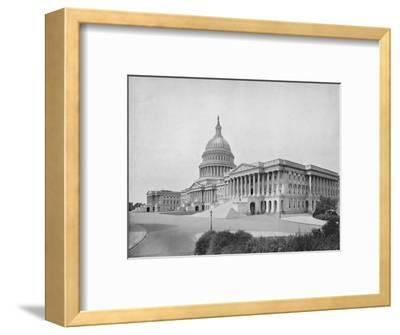 'The Capitol, Washington', 19th century-Unknown-Framed Photographic Print