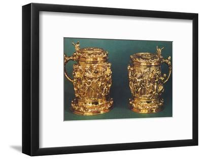 'Silver-gilt tankards, c.1661', 1953-Unknown-Framed Photographic Print