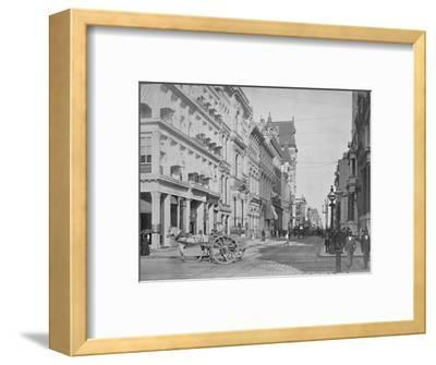'Chestnut Street, Philadelphia', 19th century-Unknown-Framed Photographic Print